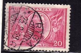 LATVIA LETTLAND LETTONIA LATVIJA 1938 REPUBLIC ANNIVERSARY PRESIDENT KARLIS ULMANIS 20s USATO USED OBLITERE' - Lettonia