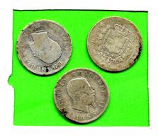 [DO] REGNO D'ITALIA - Vittorio Emanuele II (1861-78) LOTTO N' 3 Monete Da 1 Lira 1863[MI] (Argento / Argent) - 1861-1878 : Victor Emmanuel II
