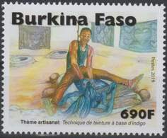 Burkina Faso 2019 Artisanat Handwerk Färber Teinture Indigo Artisan, Mnh - Burkina Faso (1984-...)