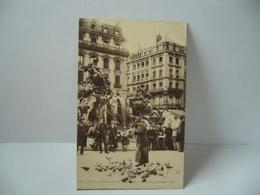 397. LYON 69 RHONE PLACE DES TERREAUX LES PIGEONS APPRIVOISES CPA 1919 E.R - Lyon