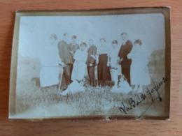 QUAREGNON RIVAGE  LA BANDE JOYEUSE 1919  (3 PHOTOS D'AMIS QUAREGNON)9CM/6CM - Quaregnon