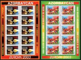 Aserbaidschan Kleinbogensatz MiNr. 543-44 Postfrisch MNH Cept 2003 (G553 - Aserbaidschan