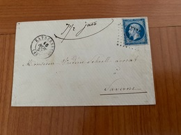 LETTRE DE 1857 DE KAYSERSBERG PC 1603- POUR SAVERNE  ( Port Offert ) - 1849-1876: Klassieke Periode