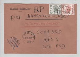 REF416/ TP 1649-1823 Baudouin Elström S/L.recommandée C.Post.14 30/6/1980 > BPS 5 - Marcophilie