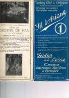 SENTIER TOURISTIQUE DE LA LESSE : Fil D'Ariane. 1er Tronçon : Anseremme, Han Et Rochefort. Touring Club De Belgique. - Old Paper