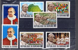 BURUNDI 330/336** SUR LA VISITE PAPALE DE PAUL VI - Burundi
