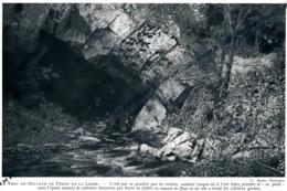1929 : Photo, Belgique, Le Trou De Belvaux Ou Perte De La Lesse, Rochefort, Grottes, Spéléologie - Old Paper