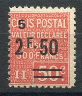 RC 15609 FRANCE COLIS N° 64 VALEUR DÉCLARÉE COTE 17€ NEUF * MH TB - Colis Postaux