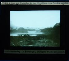 SEE MIT GLETSCHER IN DER CORDILLERE VON NORDPATAGONIEN - AMÉRIQUE DU SUD - Diapositivas De Vidrio