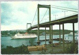 PC Foto:Gustav Hansson  413- Göteborg.Älvsborgsbron,bridge,ferries Stena Line..used +stamps RFA Yv 696+747 - Ferries