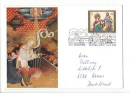 24200- Christkindl 1983 Cover Lettre Pour Worms 24.12.1983 - Noël