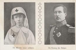 Belgique- België -la Reine Astrid En Uniforme D'infirmière Et Le Roi Albert - Koningin Astrid  En Koning Albert - War 1914-18