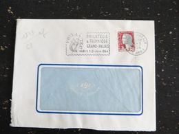 LYON TERREAUX - RHONE - FLAMME PHILATEC 1964 PARIS GRAND PALAIS SUR MARIANNE DECARIS - Marcophilie (Lettres)