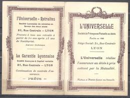 Lyon - Calendrier 1913 - L'Universelle Assurance - Calendars