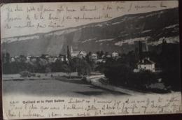 Cpa,  Gaillard Et Le Petit Salève, éd M.M 112, écrite En 1903 Ou 1908 ? , Savoie, 73. - Autres Communes