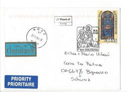 24206- Christkindl 2003 Cover Lettre Pour Bignasco 28.11.2003 Ersttag + Vignette - Noël