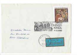 24208- Christkindl 2000 Cover Lettre Pour Gleisdorf 11.12.2000 + Vignette - Noël