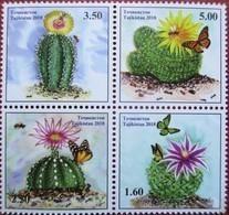 Tajikistan  2018  Cacti ( Butterflies,  Bees)  4 V  MNH - Schmetterlinge