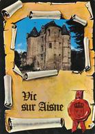 02 VIC SUR AISNE - LE DONJON  1 VUE PARCHEMIN - Vic Sur Aisne