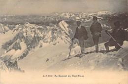 74 HAUTE SAVOIE Alpinistes Au Sommet Du Mont Blanc Vers 1900 Carte Précurseur - Chamonix-Mont-Blanc