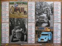 Almanach Du Facteur 2017 - Aveyron (12) - Vieux Tracteurs - Fourgonnette 4 L - Camionnette 2 CV - Oberthur - Calendars
