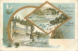 Ref Y634- Turquie - Salut De Constantinople - Kiosk Imperial Et Eaux Douces D Europe  - - Turkey