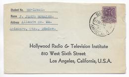 MEXICO - 1941 - ENVELOPPE  DE ACAMBARO Avec SERVICE AMBULANT ! => LOS ANGELES (USA) - Mexico