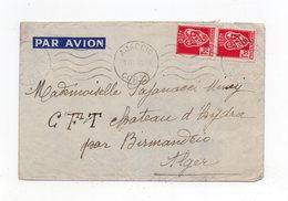!!! PRIX FIXE : TP D'ALGERIE SUR LETTRE D'AJACCIO DU 1/2/1944 - Guerre De 1939-45