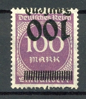 Deutsches Reich MiNr. 289 K Mit Falz/ Hinge Mark Geprüft Weinbuch (I656 - Errors And Oddities