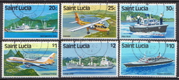 St. Lucia Used Set, WM 8 - Transport