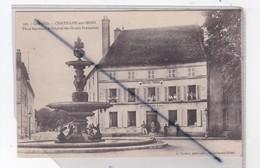 Chatillon Sur Seine (21) Place Marmont Et Hôpital Des Dames Françaises Hôpital Auxiliaire N°206 (Fontaine) - Chatillon Sur Seine
