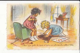 CPA -  Illustrateur - Bouret Germaine - Chic !...j'ai Juste De Quoi M' Faire Une Robe Dan  :  Achat Immédiat - ( Cd029 ) - Bouret, Germaine