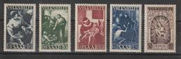 Sarre 1949 Au Profit Des Oeuvres Populaires 263-267 5 Val. ** MNH - Nuevos