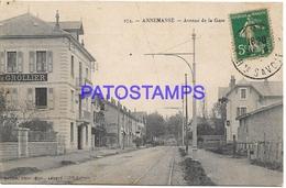 130231 FRANCE ANNEMASSE AVENUE OF STATION TRAIN CIRCULATED TO PARIS POSTAL POSTCARD - Annemasse