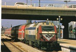 Diesel Locomotive No.764 Of Israel Railways In Tel-Aviv  - 2007 -  CPM - Trains