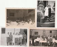 Infirmières, Médecins Et Blessés Allemands  - German Wounded And Medical Staff - 4 Photos 1944-1945 - 1939-45
