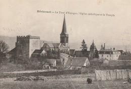 HERICOURT. - La Tour D'Espagne, L'Eglise Catholique Et Le Temple - Francia