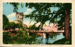 CPA - MAUBOURGUET - VUE DU PONT SUR L'ADOUR ET DE L'EGLISE (IMPECCABLE) - Maubourguet