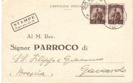 NOTIFICAZIONE DI REGISTRATO MATRIMONIO ANNULLO SALO' ( 12-178 ) - 1946-60: Marcophilia