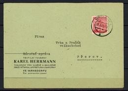 Provisory 1945-1947 - Cover From Varnsdorf 23.8.1945 - Tchécoslovaquie