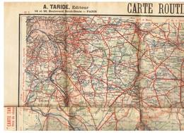 Carte TARIDE N° 7 - Environs De Paris Section Sud-Est - Carte Taride Routière - Cartes Routières