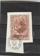 TAAF Yvert PA 22 Oblitéré Sur Fragment Archipel Des Kerguelen 22/6/1971 - Station Météo Amsterdam - Oblitérés