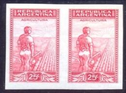 FARMER AGRICULTURE SUN Good IMPERFORATED MINT MNH PAIR STAMPS ARGENTINA 1935 10878 081219E - Non Classés