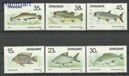 Zimbabwe 1989 Mi 406-411 MNH ( ZS6 ZBW406-411 ) - Peces