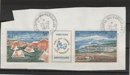 TAAF Yvert PA 26A Triptyque Oblitéré Sur Fragment ( 1 )  Archipel Des Kerguelen 25/12/1972 - Port Aux Français - Oblitérés