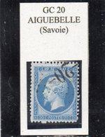 Savoie - N°22 (ld) Obl GC 20 Aiguebelle - 1862 Napoléon III