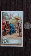 IMAGE FREDERIC LE GRAND ROI DE PRUSSE ET MEUNIER SANS SOUCI SIGNATURE IMPRIMEE CHOCOLAT D AIGUEBELLE FORMAT 7 PAR 11 CM - Vieux Papiers
