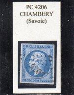 Savoie - N° 14B Obl PC 4206 Chambéry - 1853-1860 Napoléon III