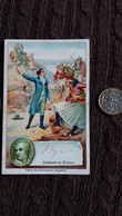 IMAGE BYRON POETE ANGLAIS  SIGNATURE IMPRIMEE CHOCOLAT D AIGUEBELLE FORMAT 7 PAR 11 CM - Vieux Papiers