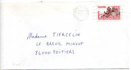 France N° 2005 Y. Et T. Paris Gare Montparnasse Flamme Ondulée Du 03/07/1979 Sur Lettre - 1961-....